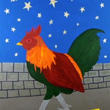 Koz - Starring Rooster 6 x 8